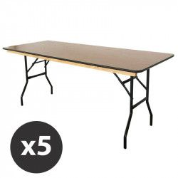 Table pliante bois table brasserie | Mobeventpro