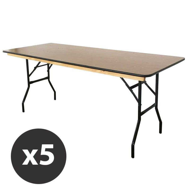 Table pliante bois collectivit mobeventpro - Tables collectivites pliantes ...