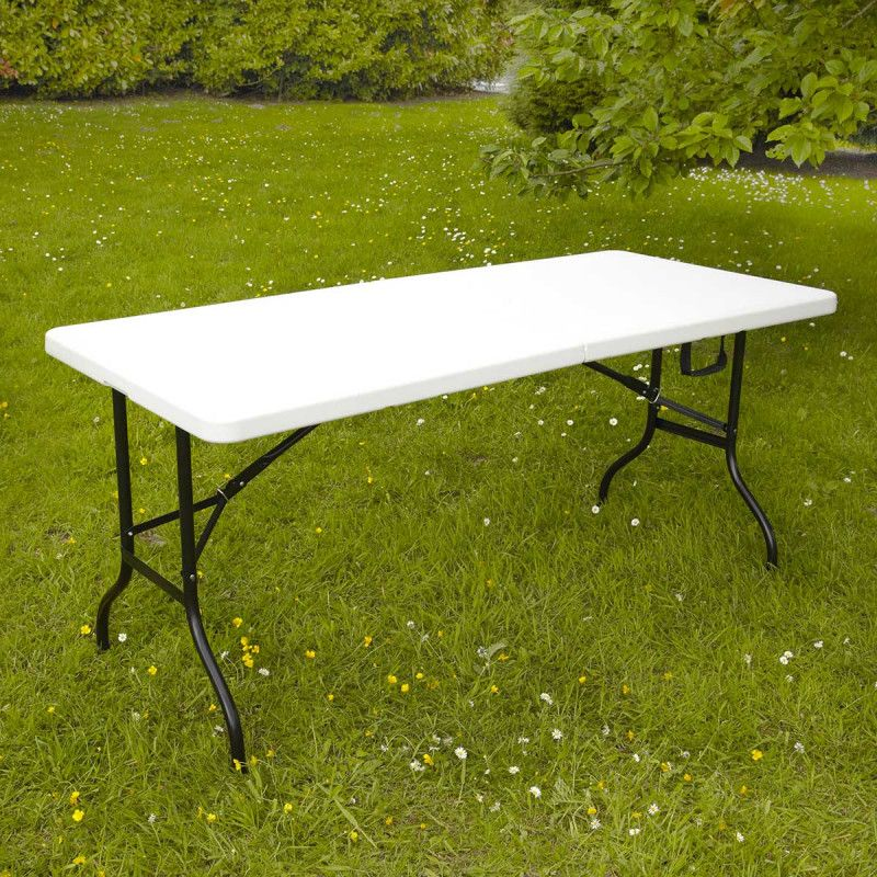 Table pliante 8 places et nappe mobeventpro - Nappe table exterieur ...