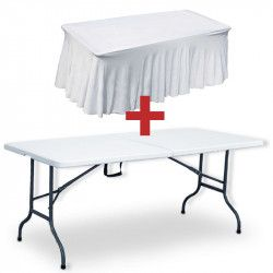 Table pliante et nappe