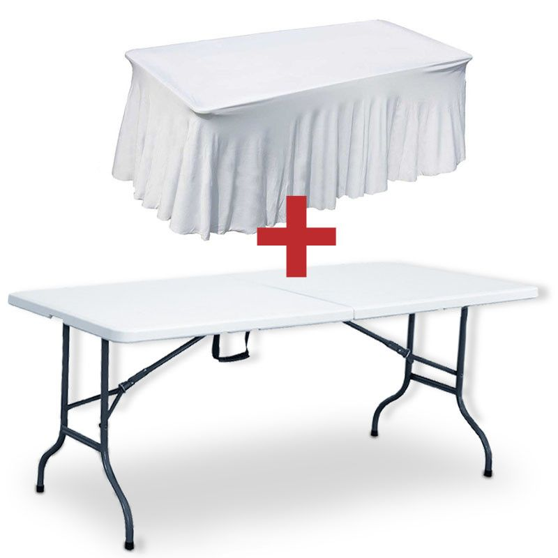 Table pliante et nappe mobeventpro - Nappe table exterieur ...