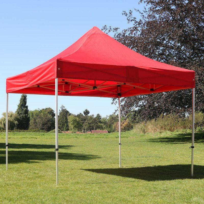 Tente pliante rouge barnum pliant mobeventpro for Kuchenzeile 3 40 m