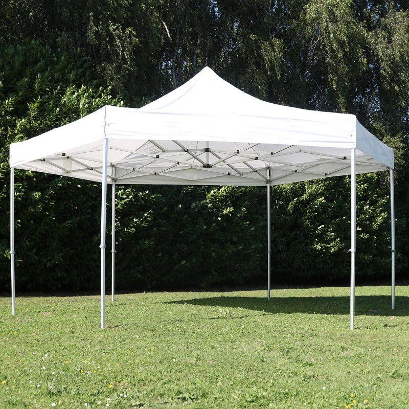 Tente pliante hexagonale 3m 300g/m² 50MM Blanche