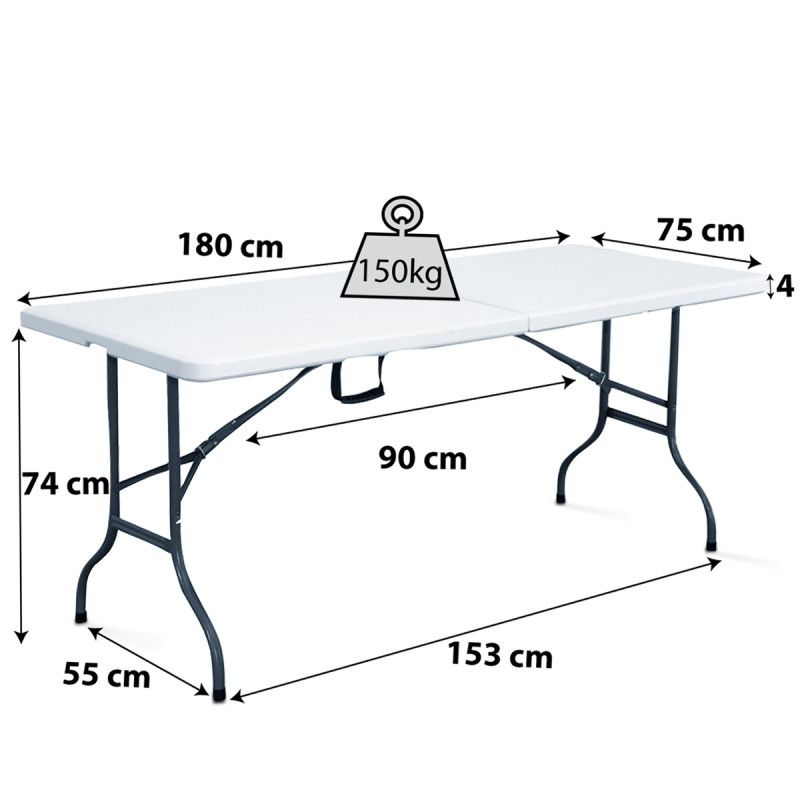 Table pliante brasserie mobeventpro - Table de bridge pliante ...