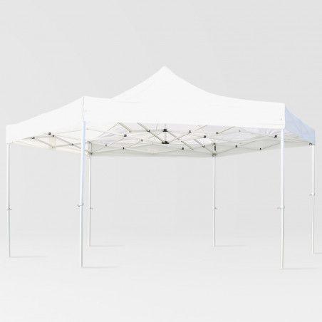 Tente pliante Hexagonale blanche | Mobeventpro