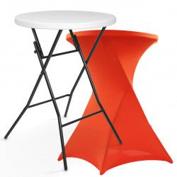Mange debout pliant avec housse stretch orange