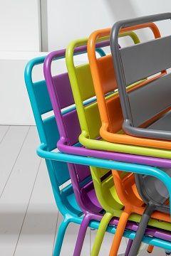 chaise CHR PALAVAS en métal
