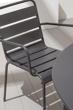 Chaise restaurant grise métal
