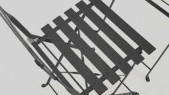 Chaise bistrot grise en métal empilable DIEPPE ACIER THERMOLAQUE
