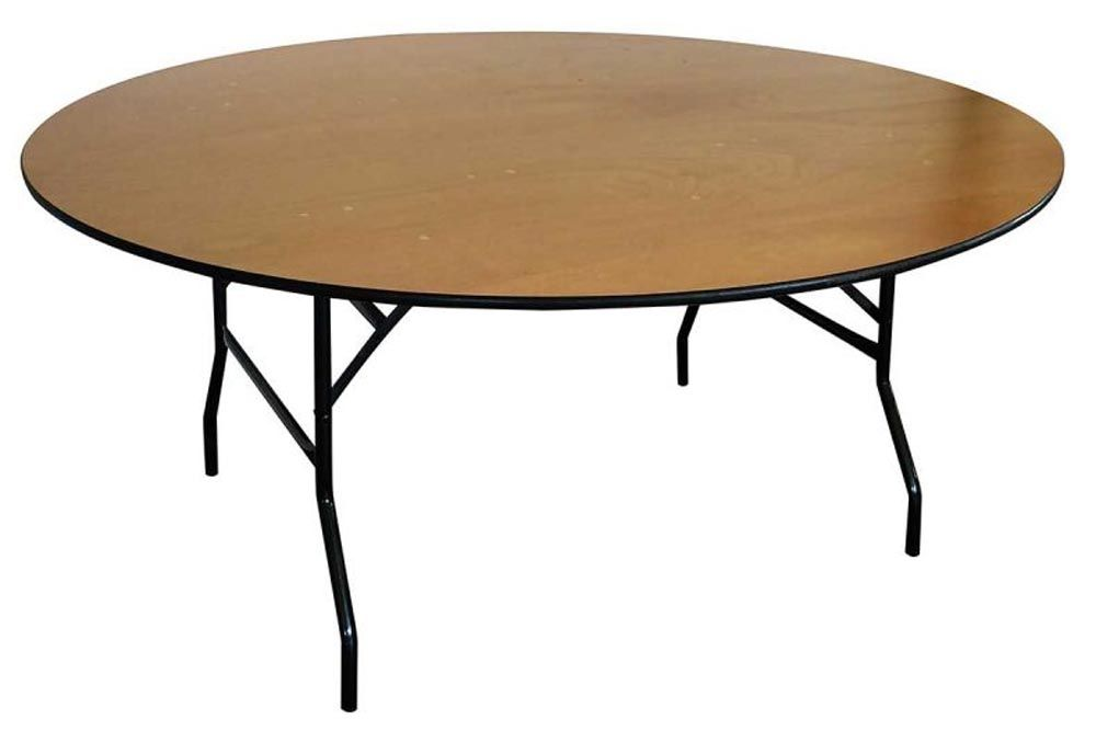 table ronde en bois pliante