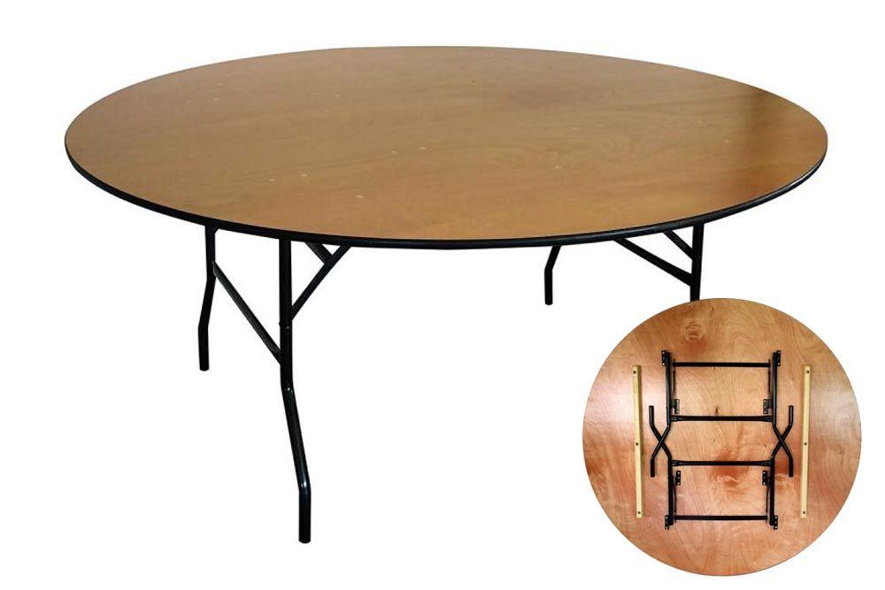 Table pliante ronde mobeventpro for Table ronde pliante bois