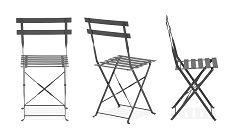 Chaise de restaurant en métal coloré DIEPPE