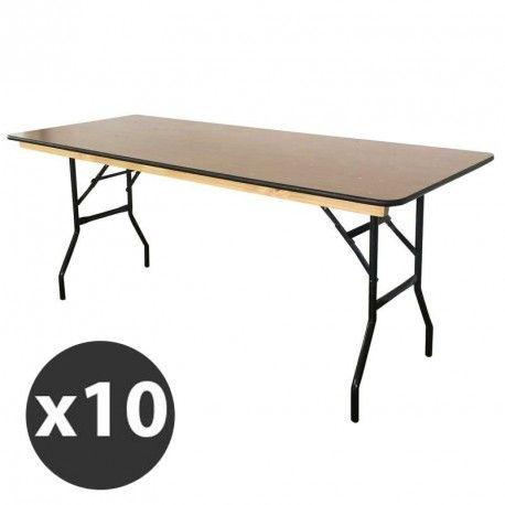 tables pliantes bois promo