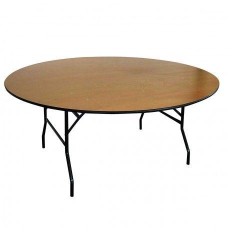 table pliante ronde en bois pas cher