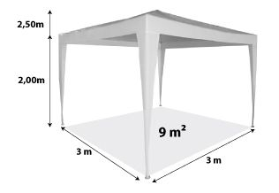 Chapiteau 3x3m_blanc