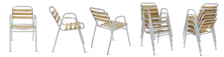 fauteuil terrasse CHR bois aluminium