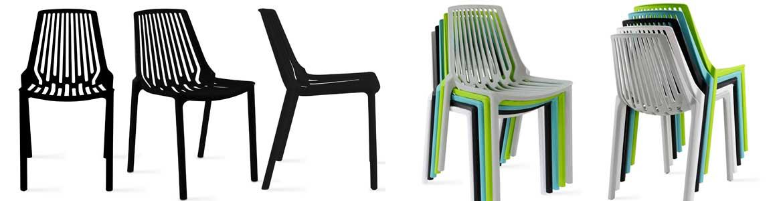 chaise terrasse restaurant noire