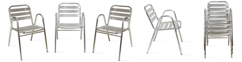 chaise terrasse aluminium