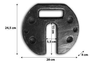 Poids-de-lestage-12kg pour tente pliante grise