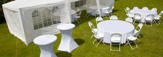 Tentes pour les déjeuners d'affaires et réceptions