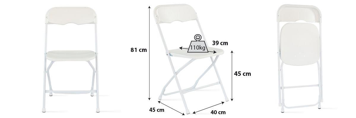 Chaise pliantes blanches pas cher réception