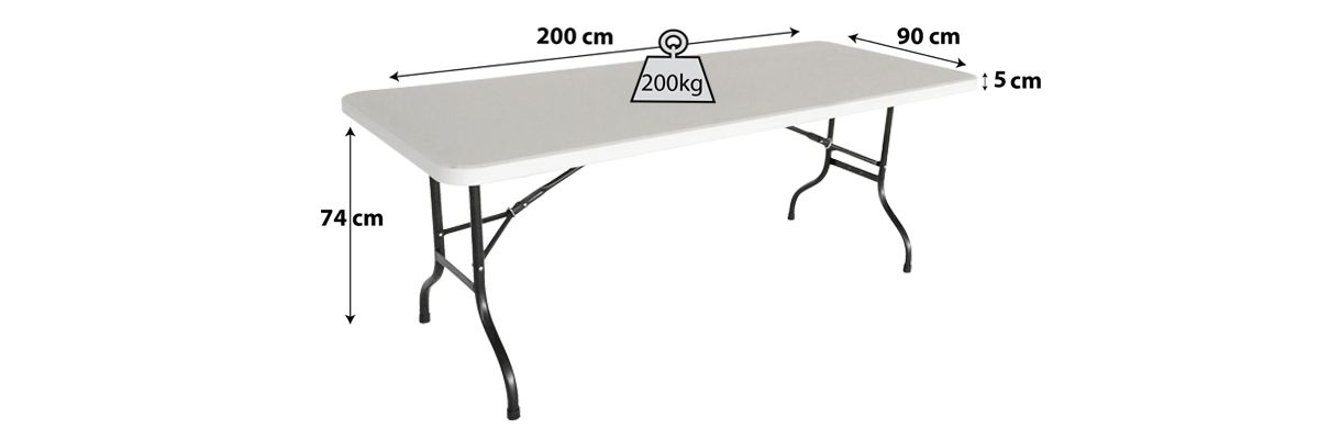Table pliante blanche 10 places