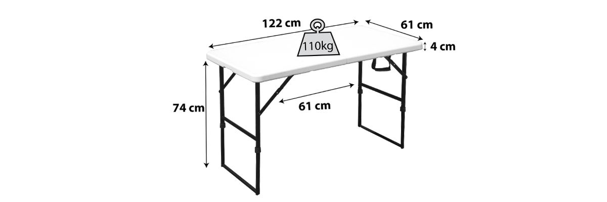Table pliante 4 personnes camping