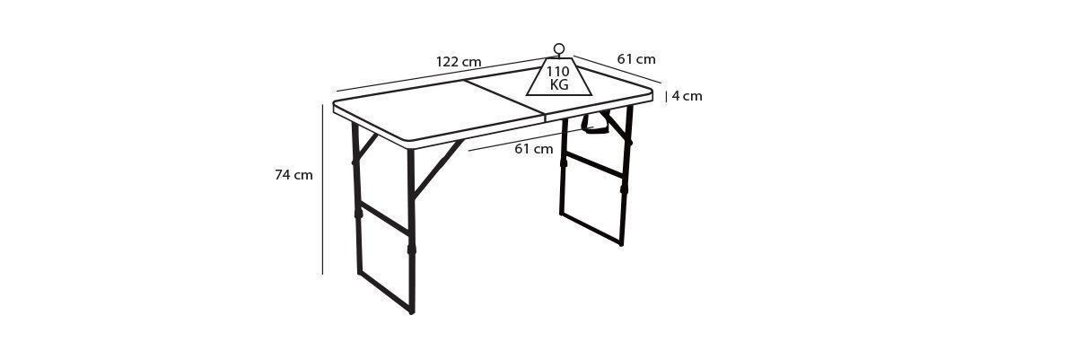Table pliante 4 personnes pas cher