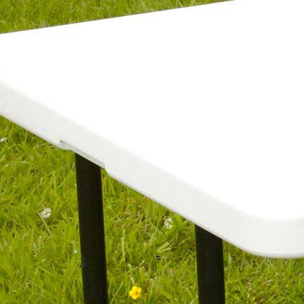 Table pliante 152cm 6 places pehd 102340 jardin piscine for Table exterieur solide