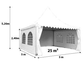 Tente pagode 5x5m_blanc
