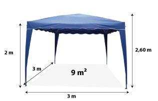 Tente pliante STANDARD 3x3m