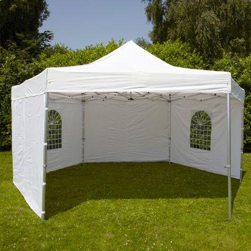 tente pliante hexagonale 3m 300g m 50mm blanche 101209 jardin piscine. Black Bedroom Furniture Sets. Home Design Ideas