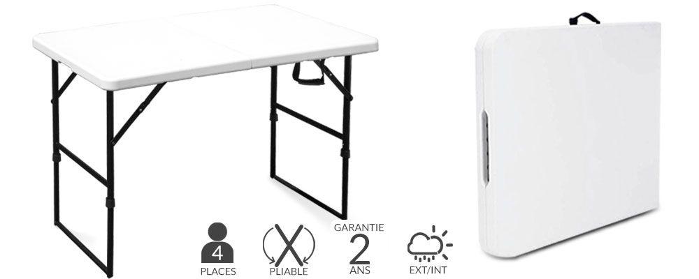 table pliante 4 places mobeventpro. Black Bedroom Furniture Sets. Home Design Ideas