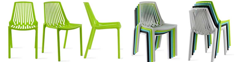 Chaise terrasse restaurant verte