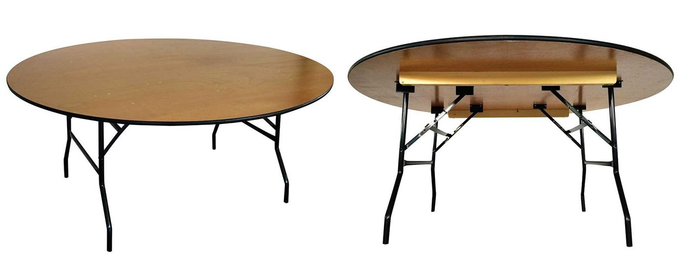 Table pliante ronde mobeventpro - Table ronde pliante bois ...